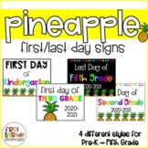 Pineapple Themed First Day of School Signs (2018-2019)