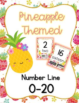 Pineapple Themed Number Line 0-20