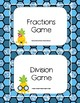 Pineapple Themed Photo Case Labels