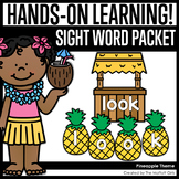 Pineapple Themed Sight Word Packet