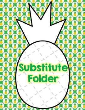 Pineapple-Themed Substitute Folder