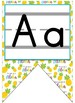 Pineapple Themed Traditional Manuscript Alphabet Banner