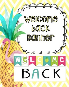 Pineapple Themed Welcome Back banner