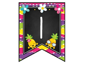 Pineapple Themed Welcome Banner