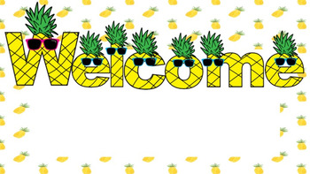 Pineapple Themed Welcome Signs