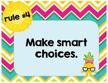 Pineapple-Themed Whole Brain Teaching Rules