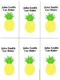 Pineapple Transportation Tags