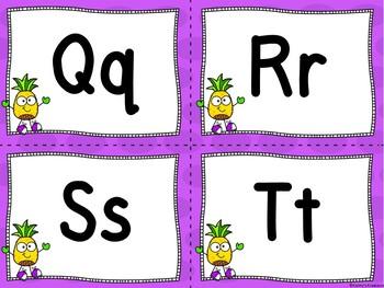 Pineapple/Tropical Word Wall & 200 Fry Words Editable