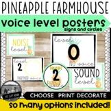 Pineapple Voice Level Chart Tropical Farmhouse Voice Level
