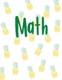Pineapple Watercolor Binder Covers