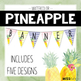 Pineapple Watercolor Classroom Banner