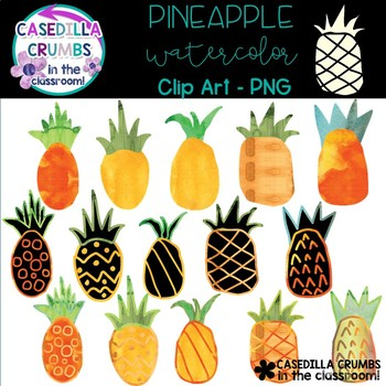 Pineapple Watercolor Clip Art - 15 Images