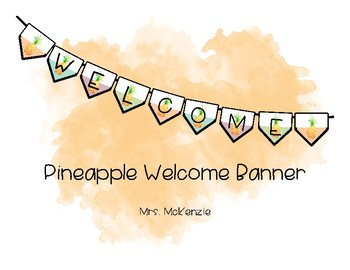 Pineapple Welcome Banner