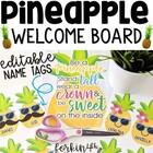 Pineapple Welcome Board (editable)