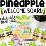 Pineapple Welcome Bulletin Board (editable) for Back to School
