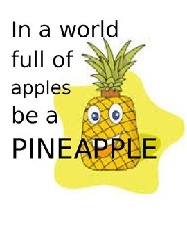 Pineapple Welcome Poster