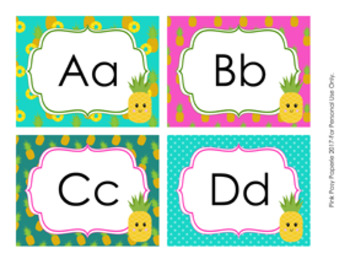 Pineapple Word Wall Headers
