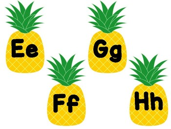 Pineapple Word Wall Letter Headers