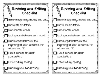 Pineapple Writing Process Poster and Checklist