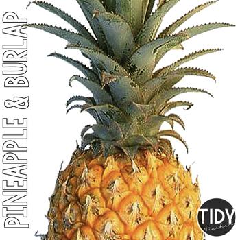Pineapple and Burlap SIGNS & headers!