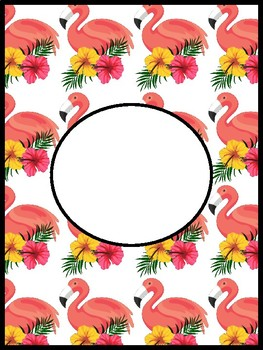Pineapple and Flamingo Binder cover Pages