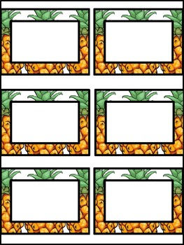 Pineapple and Flamingo Blank Labels