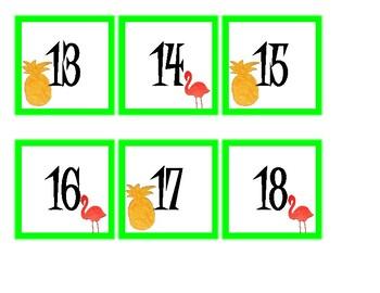 Pineapple and Flamingo Calendar Set
