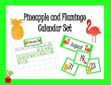 Pineapple and Flamingo Calendar Set