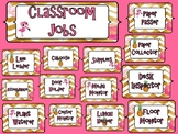 Pineapple and Flamingo Classroom Job Chart