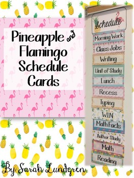 Pineapple and Flamingo Schedule Cards