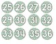 Pineapple and Stripes Numbered Circle Labels