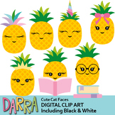 Pineapple clipart - Pretty Chic Pineapples clip art