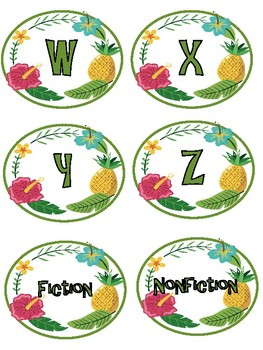 Pineapple library labels