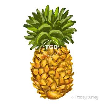 Pineapple - pineapple clip art, pineapple Printable Tracey Gurley Designs