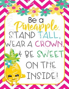 Pineapple posters, pineapple decor, pineapple quote ...