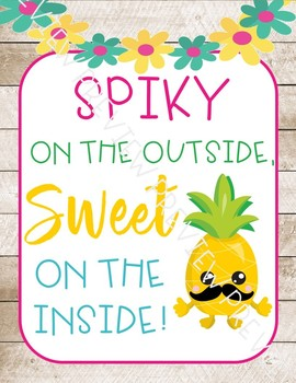 Pineapple posters, pineapple decor, pineapple quote posters, tropical theme