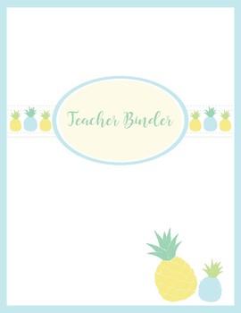 Pineapple themed Teachers Binder