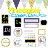 Pineapple Classroom Decor Bundle (Editable)