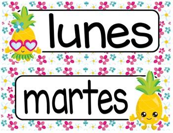 Pineapples Bilingual Decor Bundle