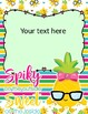 Pineapples Binder covers: Only text editable