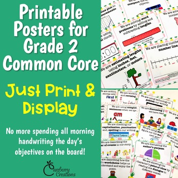 Common Core Standards Posters for 2nd Grade Pineapples Theme
