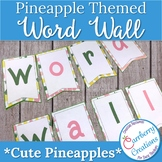Word Wall Letters and Sight Word Cards for Pineapple Theme Decor