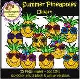 Pineapples Clip Art - Summer - Spring (School Designhcf)