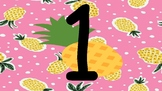 Pineapples Decor Numbers