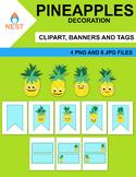 Pineapples Digital Clipart