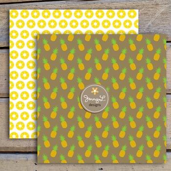 Pineapples Digital Papers