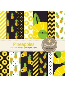 Pineapples Digital Papers