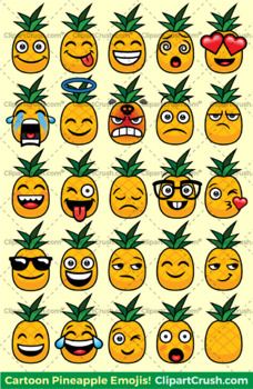 cute pineapple clipart. pineapples emoji clipart faces / cute pineapple emojis emotions expressions r