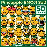 Pineapples Emoji Clipart Faces / Cute Pineapple Emojis Emo