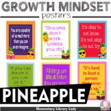 """Growth Mindset Posters Pineapples Decor - 8.5""""x11"""", 18""""x24"""" - Ready for Printing"""